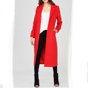 Jackets & Blazers - Red Trench Coat